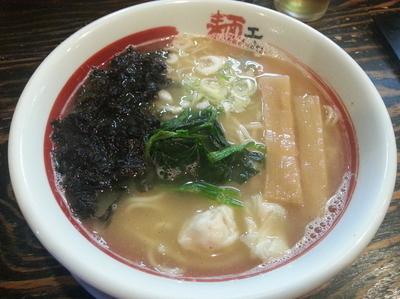 「魚介塩ラーメン750円」@麺工房 じゃんの写真