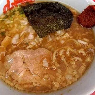 「煮干し醤油らぁめん(味薄め) ¥830」@ラーメン山岡家 足利店の写真
