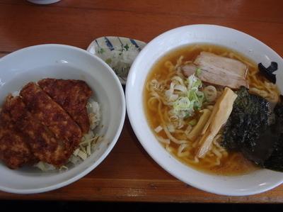 「ミニソースカツ丼セット(1,050円)」@大笑家の写真