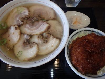 「チャーシューメン(850円)、ミニソースカツ丼(450円)」@麺&ダイニング 坂新の写真
