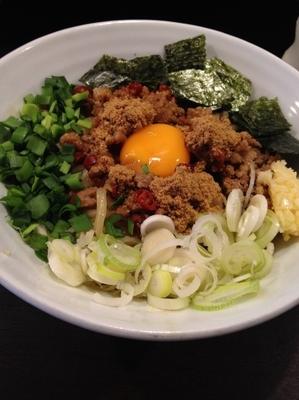 「台湾まぜそば」@極濃つけ麺 プルプル55の写真
