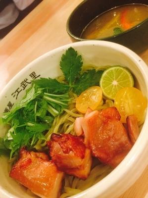 「グリーンカレーつけ麺 六感堂コラボ限定」@麺屋 江武里の写真