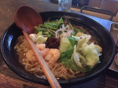 「エビ麺ダブル(160g)」@It's shrimp! エビ麺専門店の写真