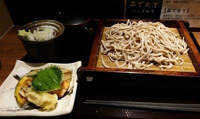 「もりそば+季節の天ぷら盛り合わせ 330+250円」@十割蕎麦 さ竹の写真