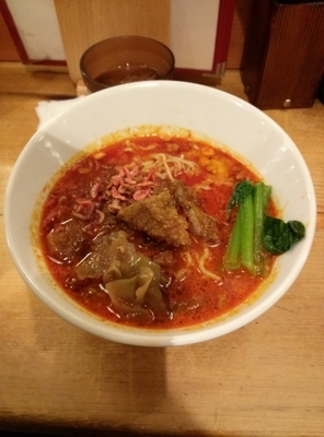 「排骨担々麺  サービスライス」@担々麺 ほおずきの写真