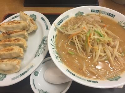 「味噌ラーメン+餃子(500+210円)」@日高屋 浦安店の写真