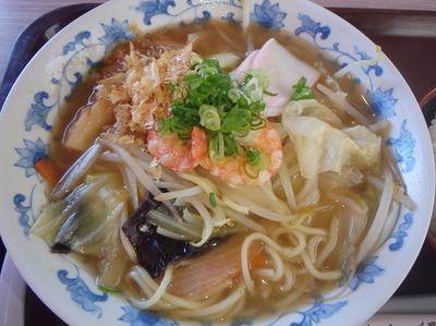 「海鮮ちゃんぽん+ご飯セット(750円)」@どーや食堂の写真