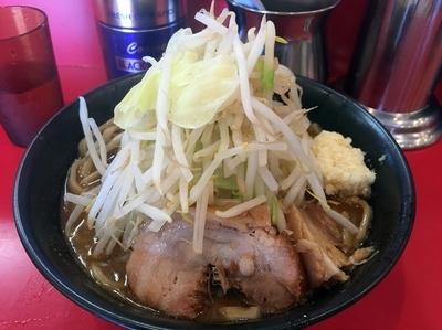 「味噌ラーメン並(800円)ヤサイチョイまし、ニンニク」@ドン-キタモトの写真