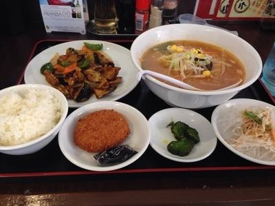 「ランチメニュー(味噌ラーメン+麻婆茄子定食)700円」@台湾料理 幸楽園の写真