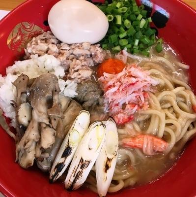 「【限定】極蟹。~蟹の餡かけまぜそば~+味玉」@活龍 海老蟹専門 甲殻堂の写真
