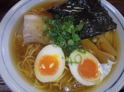 「中華そば(650円)、味玉(100円)」@ひかり食堂の写真