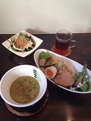 「Green Spicy Curry つけ麺  +セット」@No One Style Cafeの写真
