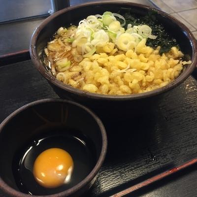 「たぬき(¥350)+玉子(クーポン)」@ゆで太郎 久が原店の写真