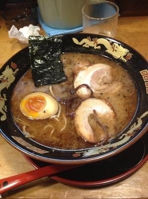 「チャーシュー麺こってり」@黒龍紅 熊本駅前店の写真