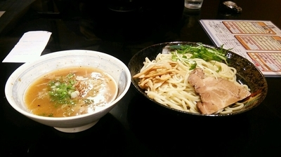 「白湯つけめん(750円)」@らぁ麺のお店 三色の写真