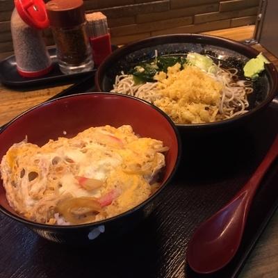 「玉子丼セット(¥400)」@そば新 蒲田西口店の写真