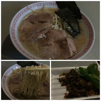 「屋台ラーメン(カタメ)+辛子高菜」@麺屋3200の写真