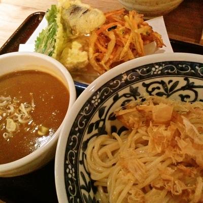 「天丸カレーつけ麺」@東京天ぷらつけ麺天丸の写真