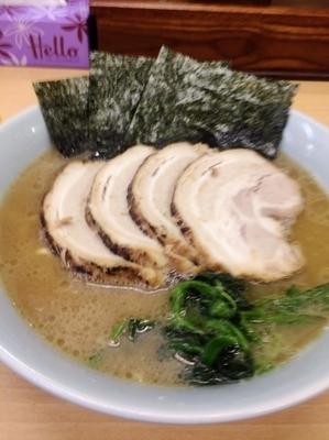 「真打チャーシュー麺中盛900円硬め濃いめ、キャベチャ150円」@真打の写真