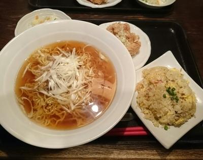 「ラーメンランチ @951円(細切りチャーシュー湯麺醤油)」@暖龍 平岸店の写真