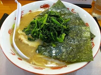 「らーめん 中盛(1.5玉) ※味 濃いめ +ほうれん草多め」@麺家 いわいの写真