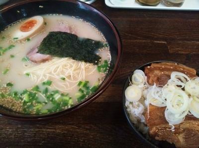 「角煮丼セット」@博多ラーメン 長浜や 猿江店の写真