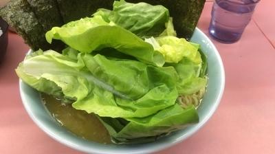「ラーメン中盛+サラダ菜+のり」@千家 根岸店の写真