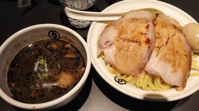 「濃厚相傳つけ麺黒 中盛り 1200円」@麺屋武蔵 武骨相傳の写真