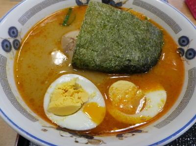 「ごま味噌らーめん+茹で卵」@めん太郎 相模原店の写真