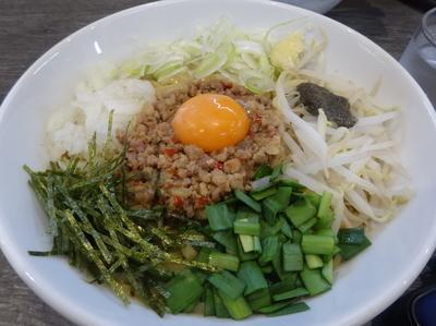 「汁無し煮干し台湾 800円(中盛)」@つけ麺丸和 名駅西店の写真