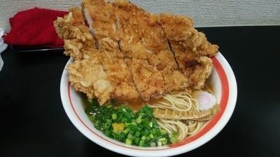 「揚チキンめん」@自家製麺SHINの写真