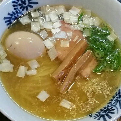 「【限定】軍鶏そば(塩)750円+味玉」@特級鶏蕎麦 龍介の写真