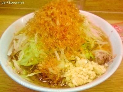 「ラーメン+かつお節 (750円)」@ラーメン二郎 栃木街道店の写真