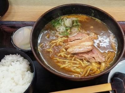 「カレーラーメン(ご飯付き)」@手打ちうどん・そば 大吉の写真
