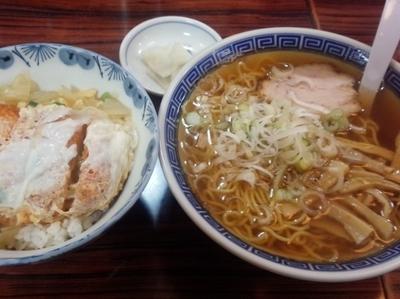 「かつ丼セット(ラーメン)」@ひさみなと食堂の写真