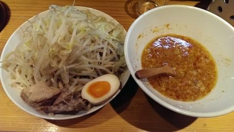「武郎つけ麺、大盛、辛」@武将の写真