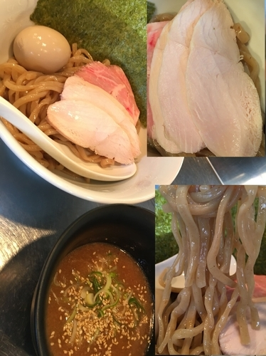 「つけ麺 (¥780)+チャーシュー(¥100)+α」@さんじの写真