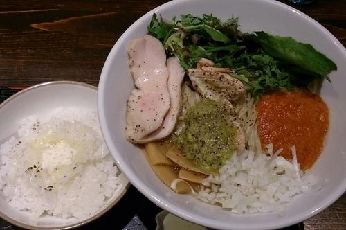 「【限定】シャケトマーゼ(大)+しめのめし(チーズ付き)」@麺や 蒼 AOIの写真