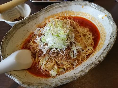 「汁なし坦々麺 「5辛」 (大盛り:サービスポイント)」@無奏天生の写真