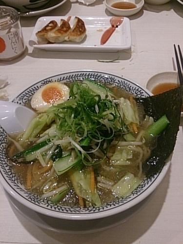 「青菜野菜旨塩ラーメン」@丸源ラーメン 土浦店の写真