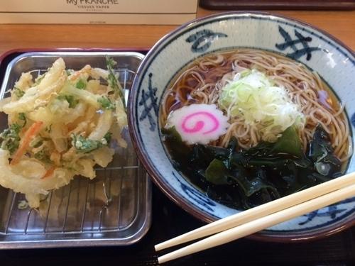 「かき揚げそば【400円】」@どん八食堂の写真