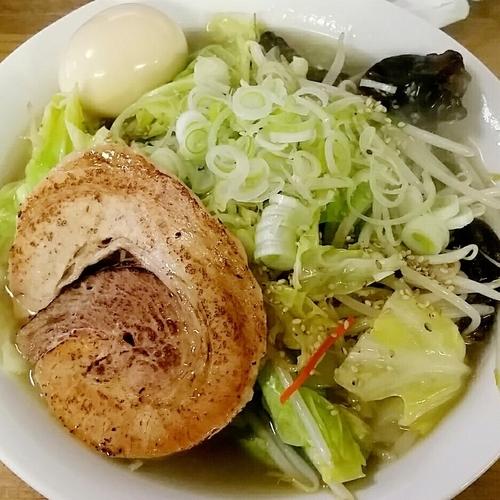 「塩タンメン 850円+味玉」@へべれ家の写真