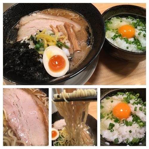「限定麺 荒焚き煮干しそば 780円+たまごかけご飯 150円」@ふくすけの写真