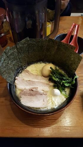 「スペシャルラーメン880円(硬め、塩、麺多め)」@濃厚とんこつラーメン 川口家の写真