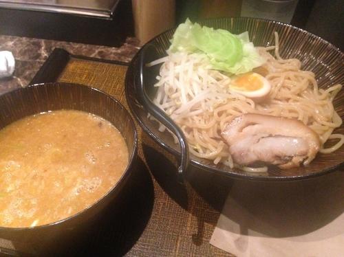 「おろし生姜の味噌豚つけ麺(大盛)」@麺匠 竹虎 新宿店の写真