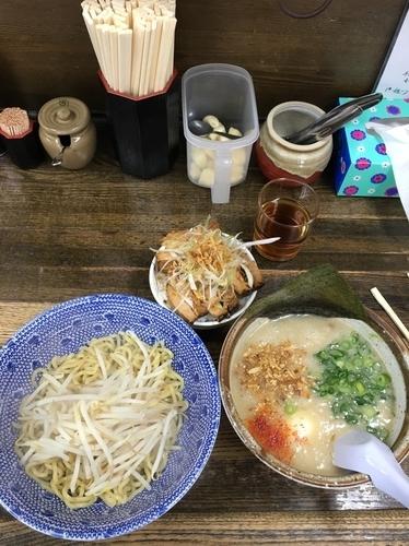 「塩つけ麺&チャーシューご飯」@らあめん 葫の写真
