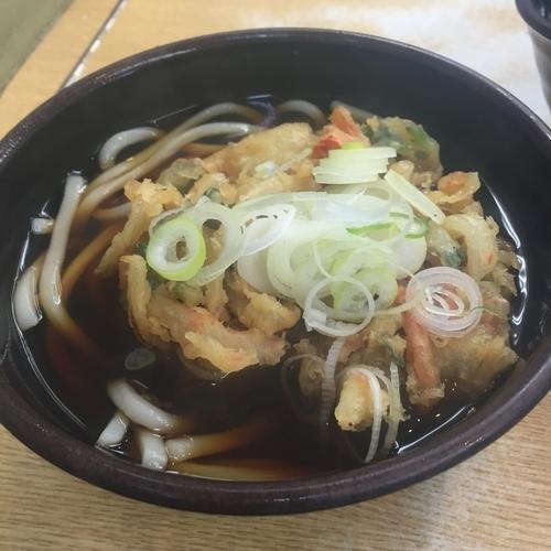 「かけ(¥320)+かき揚げ(クーポン)」@ゆで太郎 東品川店の写真