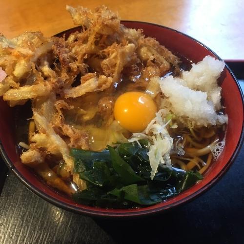 「半天ぷらセット(¥350)」@蕎麦 さだはる 西新橋店の写真