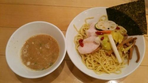 「鶏つけSOBA(大)(あつもり)」@セサミ vege noodleの写真