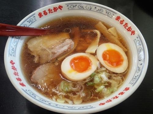 「ラーメン+煮玉子」@まるたかや 魚津店の写真